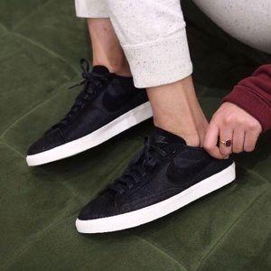 Nike Black Faux Fur Blazer Lo Sneakers